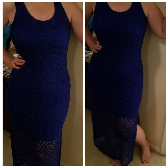 c80c43e6 Apt. 9 Dresses | Kohls Apt 9 Blue Lace Sheath Tank Dress Royal Blue ...